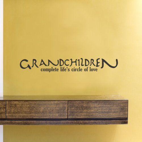 Grandchildren complete life\'s circle of love Vinyl Wall Decals ...