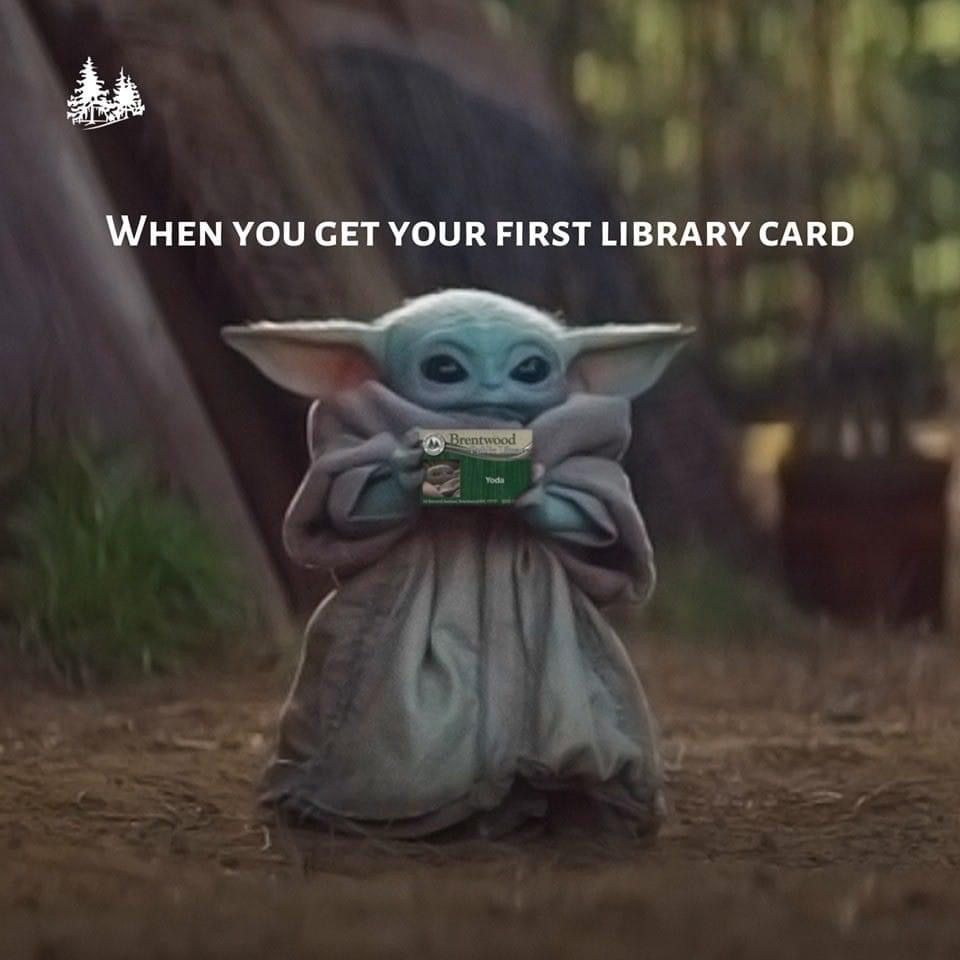 Pin By Penny Ronan On Baby Yoda Library Card Yoda Book Quotes