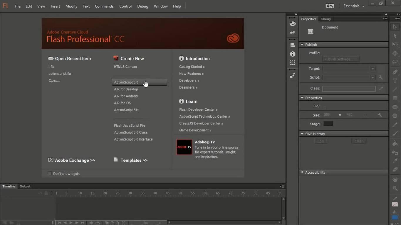 Adobe Flash Professional CC Preview Adobe flash