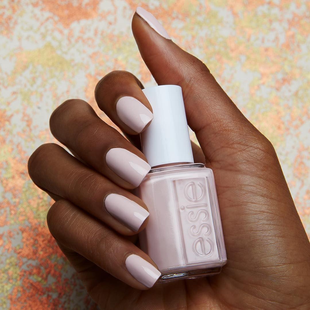 Essie Lighten The Mood On Dark Skin Pink Nail Polish On