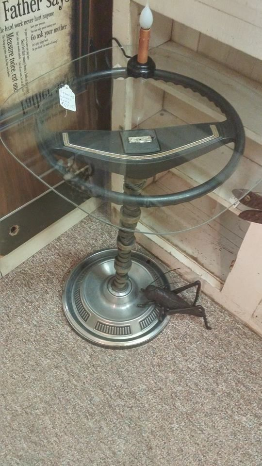 Man Cave Table Shared By Www Highroadorganizers Com Car Part Furniture Car Parts Decor Automotive Decor