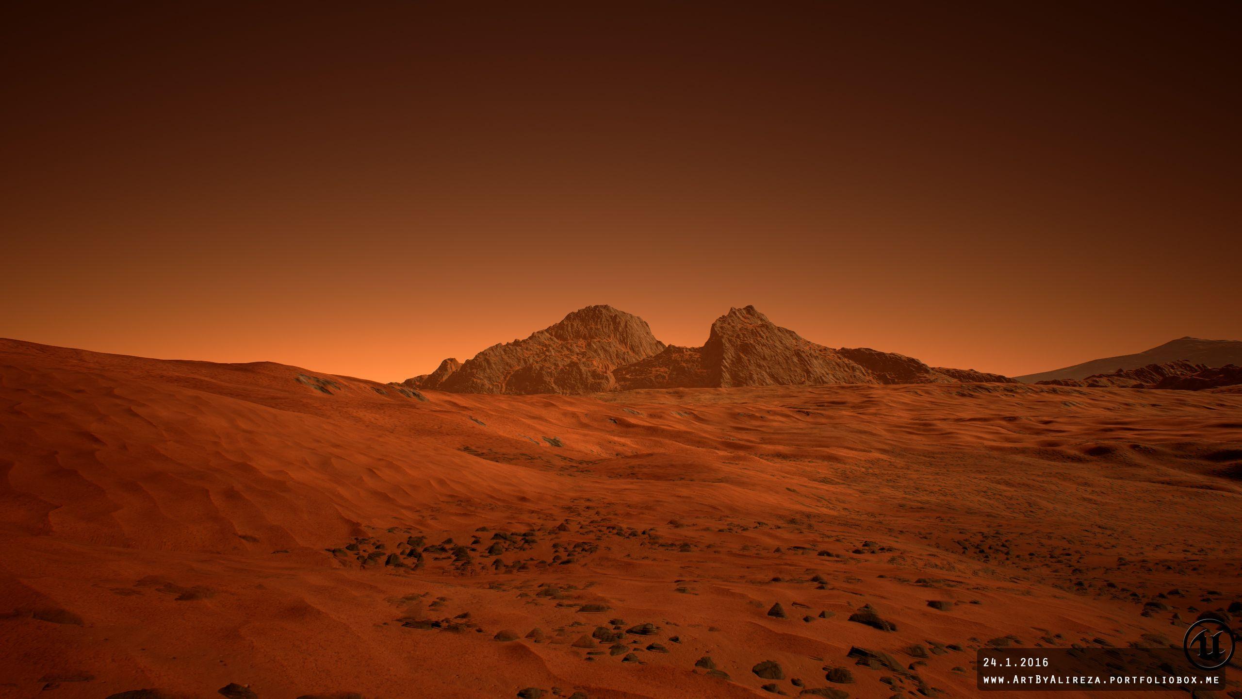 Марсианские пейзажи картинка