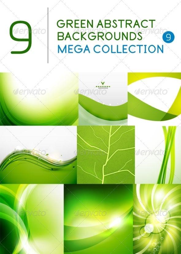 Mega set of green abstract backgrounds backgroundsvector illustrationsfont logoadobe illustratordesign elementsfontselements also adobe rh pinterest