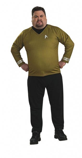 Star Trek Deluxe Captain Kirk Adult Mens Shirt