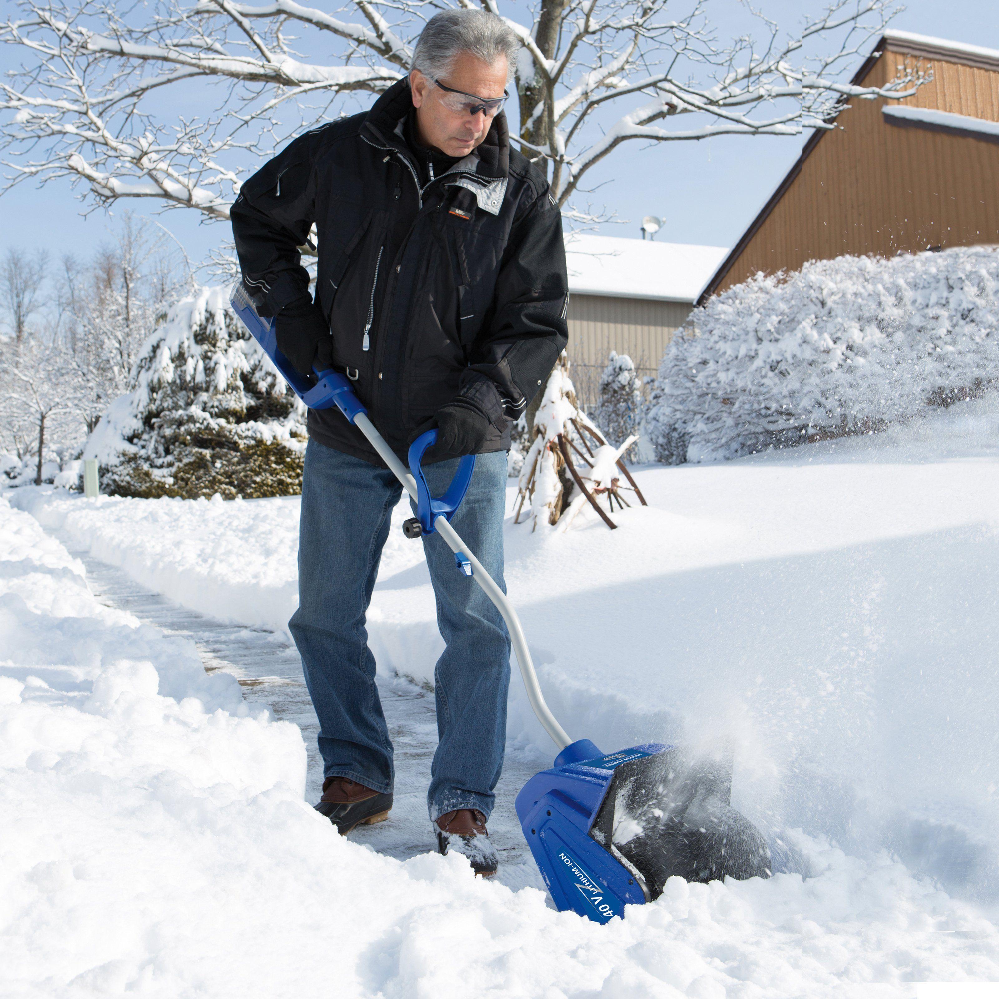 Snow Joe Ion Snow Shovel From Hayneedle Com Electric Snow Shovel Snow Blower Electric Snow Blower