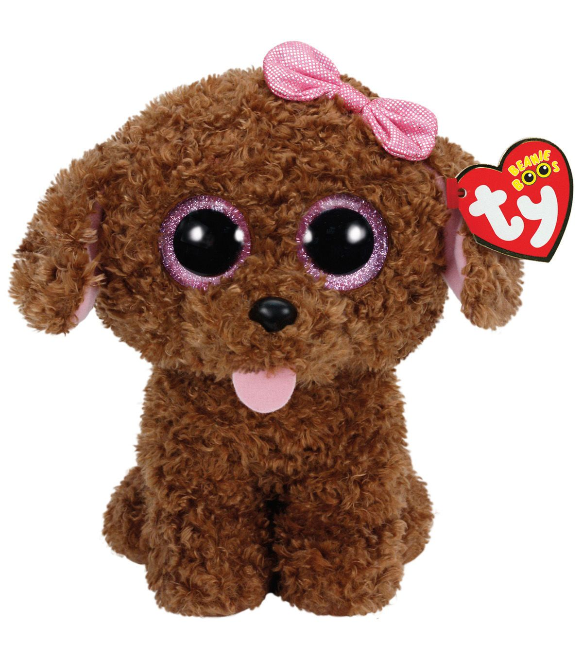 Ty Beanie Boos Maddie The Brown Dog with Bow Plush  b11d7e354650