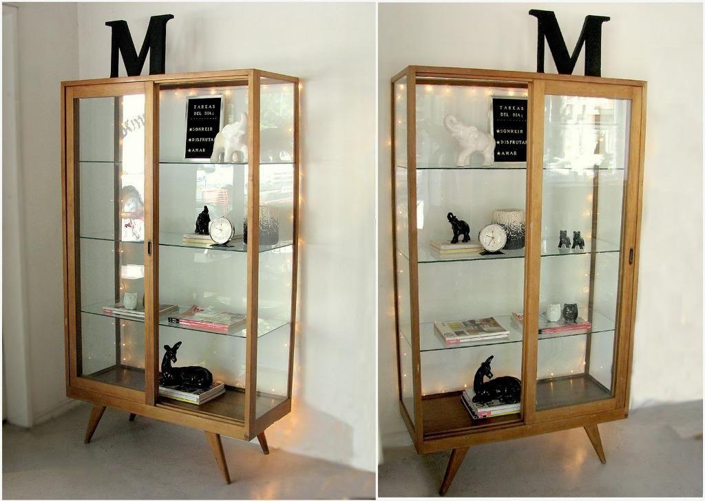 Ikea Detolf Glass Curio Display Cabinet Black Glass Door