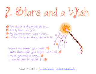 The Two Stars And A Wish Reflection Tool Can Help Our Students