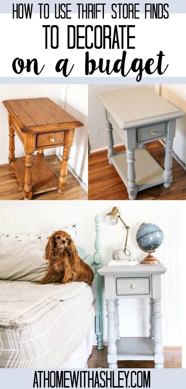 Don's Room Progress Nightstand is part of Home Accessories Shop Thrift Stores - Don's room progress and nightstand  How to use thrift store finds to decorate on a budget  A tutorial for an ugly nightstand and transform it with paint!