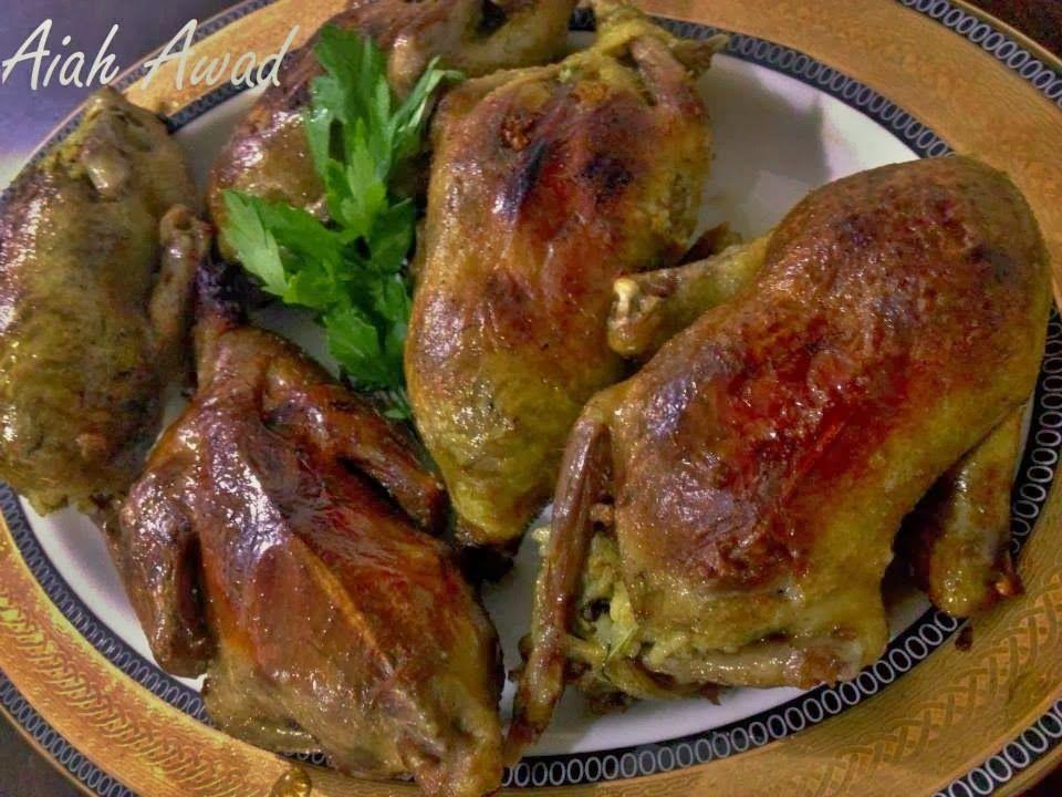 حمام محشى ارز بالخلطة وأرز معمر من مطبخ ايه عوض شهيه طيبه Egyptian Food Middle Eastern Recipes Food