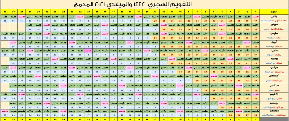التقويم الميلادي 2021 Pdf تقويم 2021 ميلادي تقويم 2021 Pdf للجوال تقويم ٢٠٢١ عربي Calendar Periodic Table