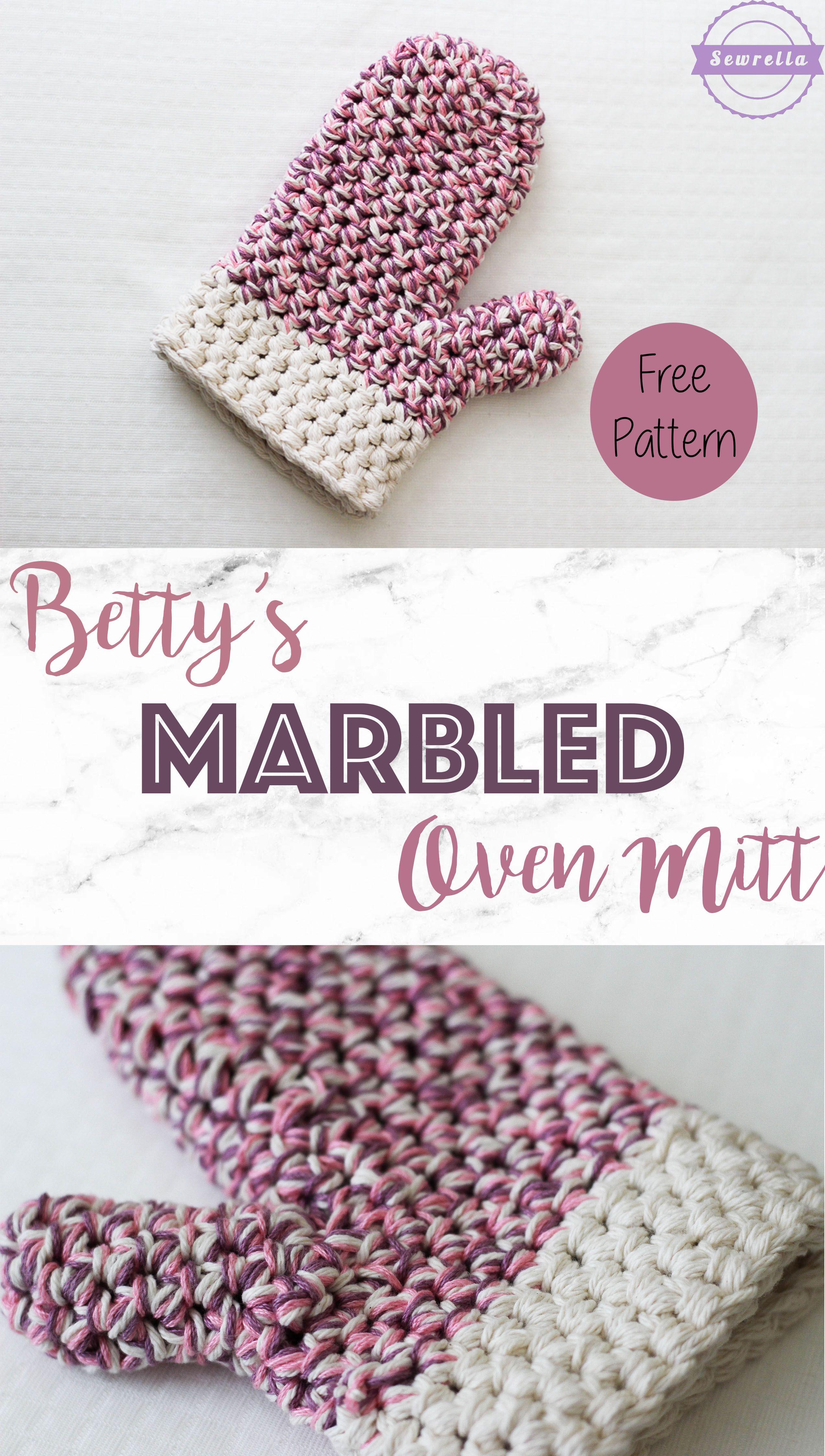 Betty\'s Marbled Oven Mitt | Guantes, Agarraderas y Ganchillo