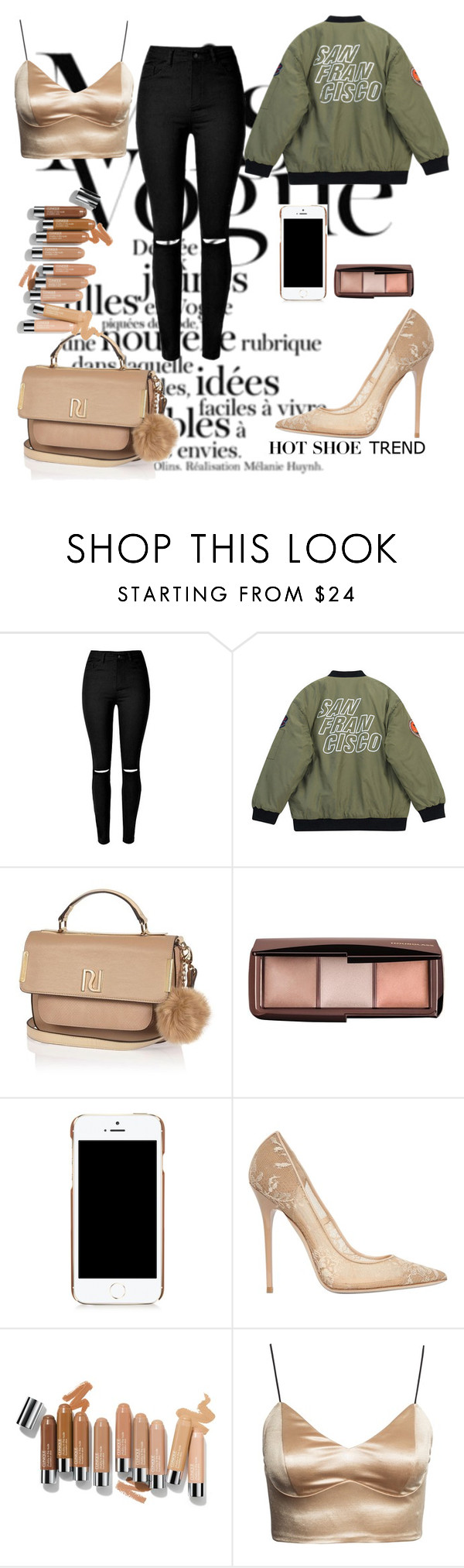 """S"" by ziamftlarry ❤ liked on Polyvore featuring Chicnova Fashion, River Island, Hourglass Cosmetics, Moschino, Jimmy Choo, women's clothing, women, female, woman and misses"