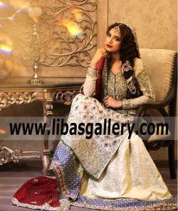 768a3c42e70 Shop this season s designer Unique Wedding Dresses Desi Wedding Sharara  from top brands including MARIA.B www.libasgallery.com .¸¸.• ¨ •xo