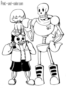 77+ Undertale Coloring Book Printable Best HD