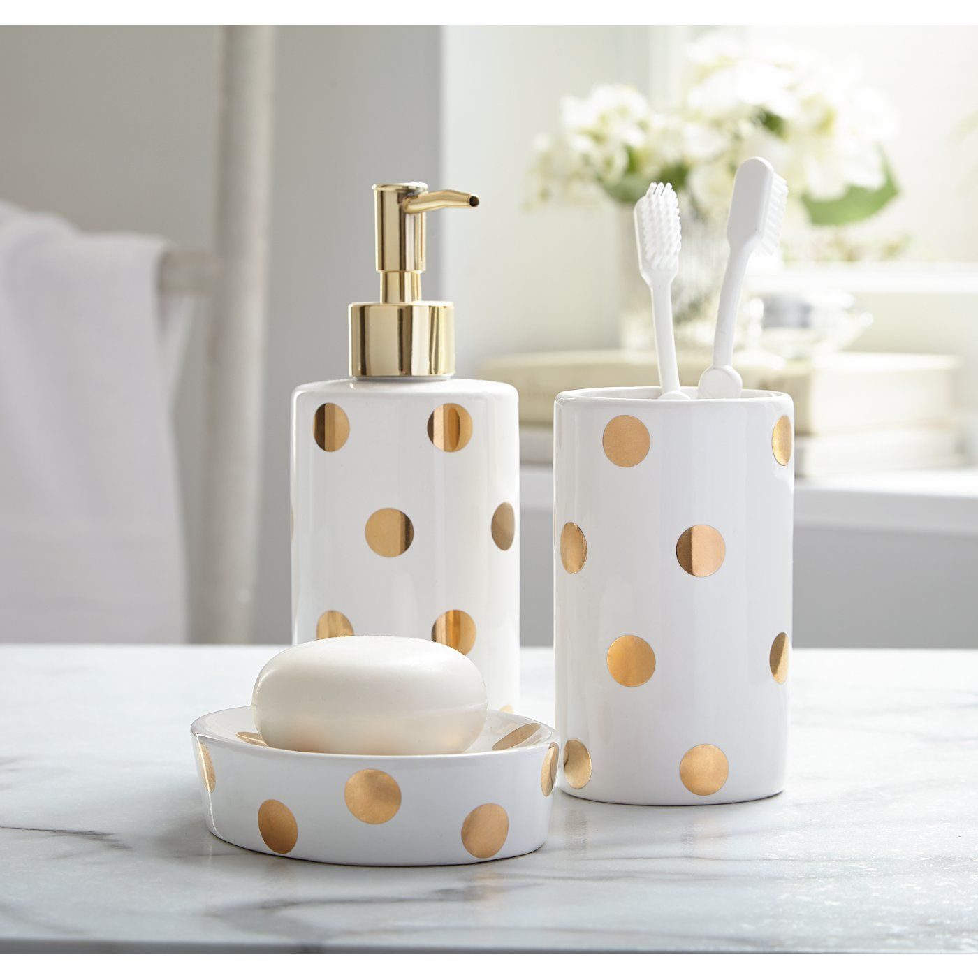Buy George Home Gold Spot Bathroom Accessories from our Bathroom ...
