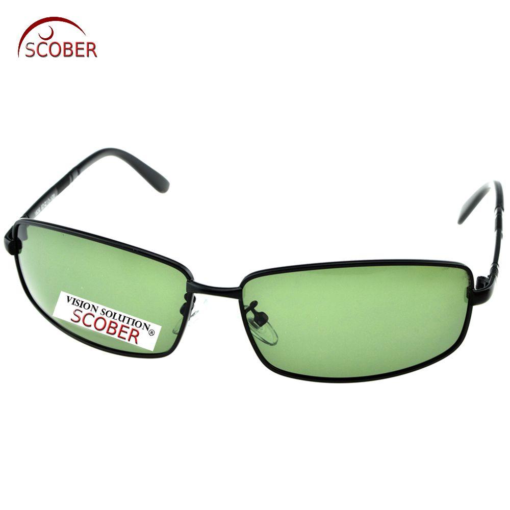 2c9883df2a SCOBER   Black Full Rim rectangle Driving men Designer Polarized sunglasses  Custom Made NEARSIGHTED MINUS PRESCRIPTION -1 to-6 Riding glasses