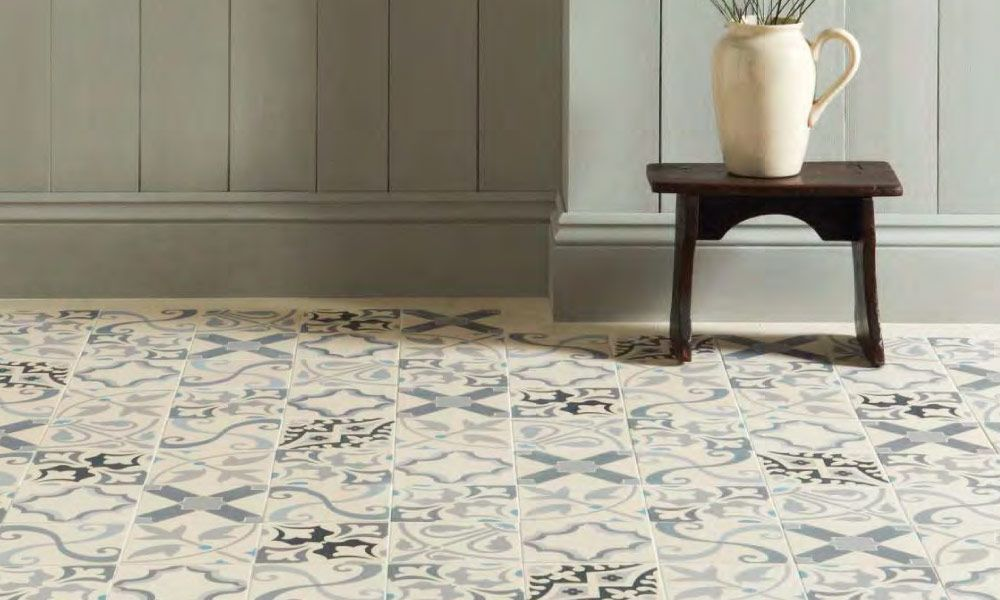 mix and match patterned floor tiles | Ideas for Staging and ...