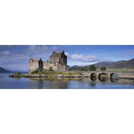 Castle on an island Eilean Donan Loch Duich Dornie Highlands Region Scotland Canvas Art - Panoramic Images (36 x 12)