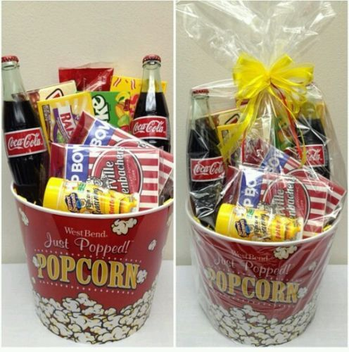 Photo of Movie Night Gift Basket for sale online | eBay