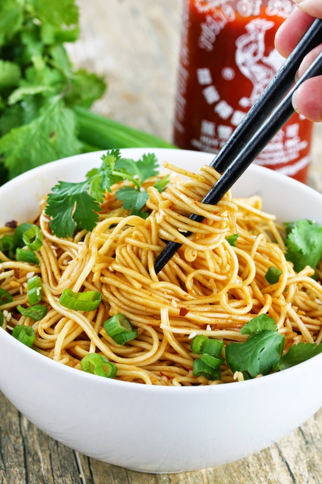 The Stay At Home Chef: 15 Minute Sriracha Ramen Noodles