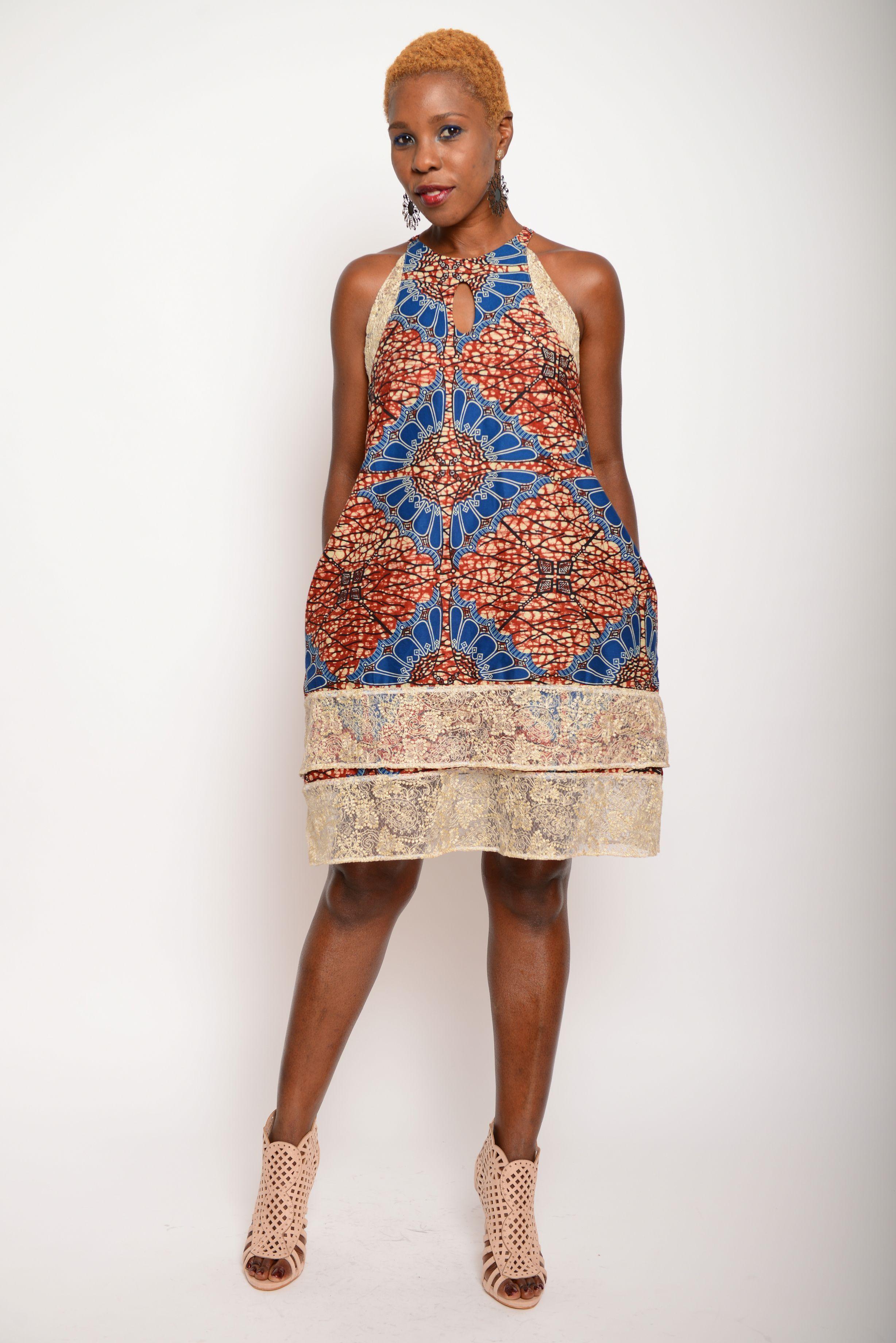 HOME / AFRIKANISCHE MODE - KLEIDER Afrikanisches Kleid Kleid Hania