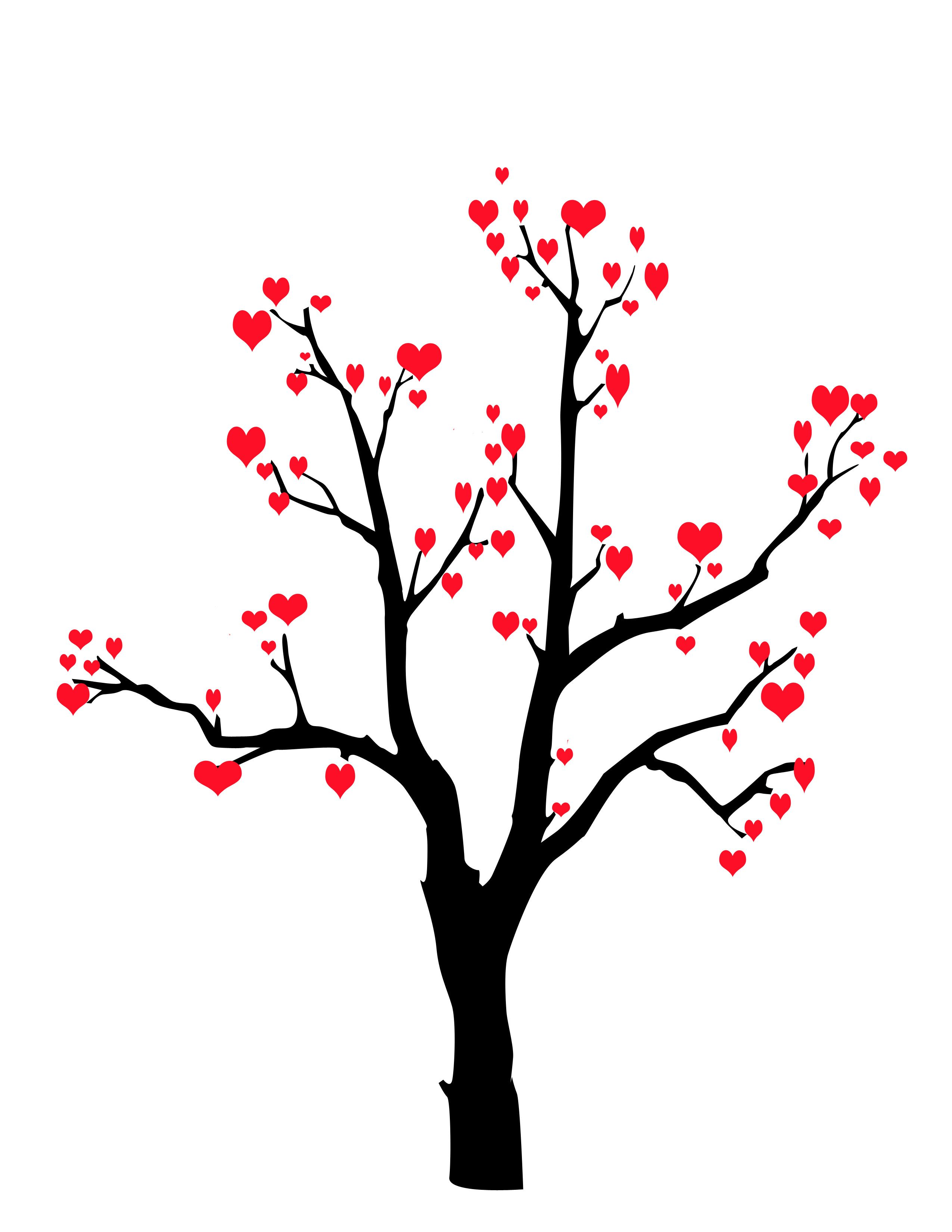 Valentines Card Idea Draw A Tree With Extended Branches Then Make