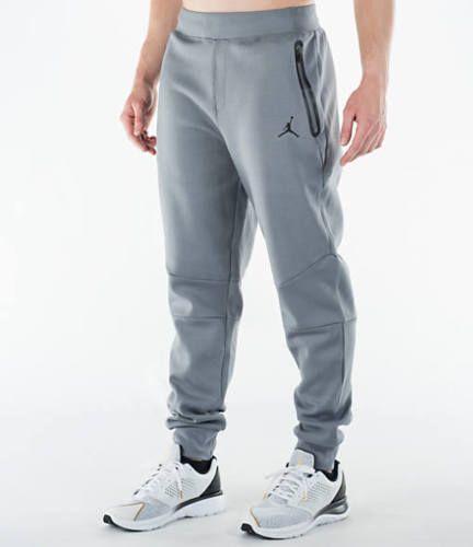 392f5411f661b0 Nike Men s JORDAN Lite Fleece Pants COOL GREY   BLACK 724788-065 ...