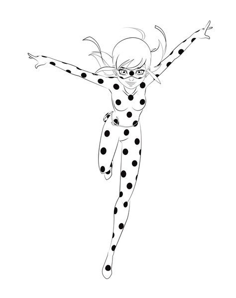 Miraculous Ladybug Is Running Coloring Pages Printable And Book To Print For Free Find More Online Kids Adults Of