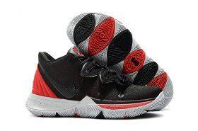 5975ddac0eff7 Nike Kyrie 5 Black University Red-Grey Men s Basketball Shoes Irving  Sneakers