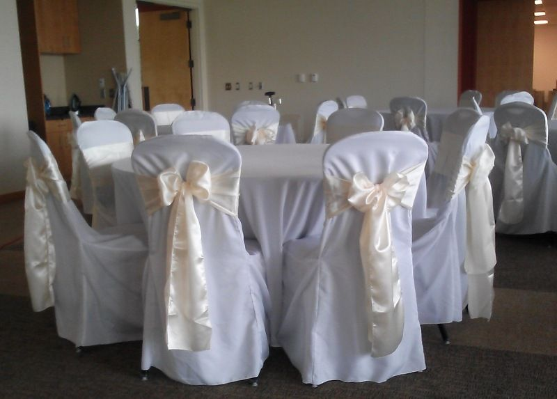 Ivory Satin Sash On White Chair Covers White Chair Covers Chair