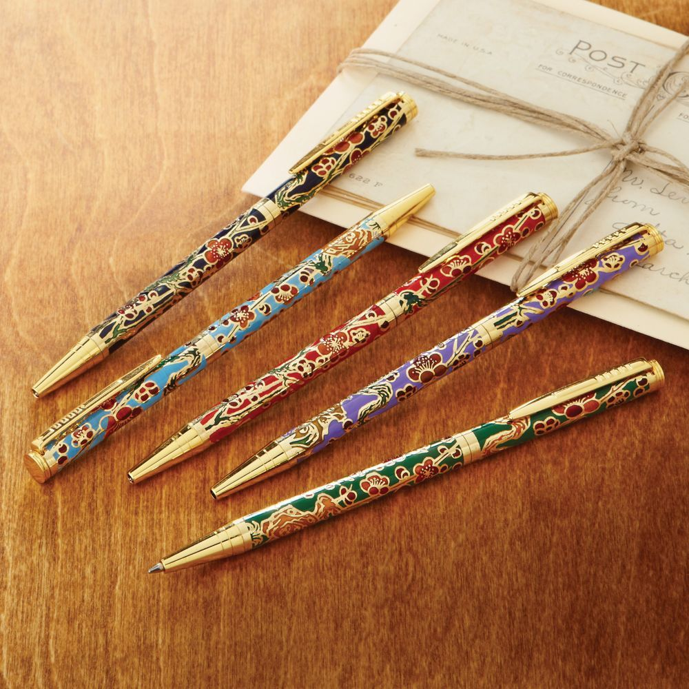 Set of 5 Cloisonné Pens | National Geographic Store