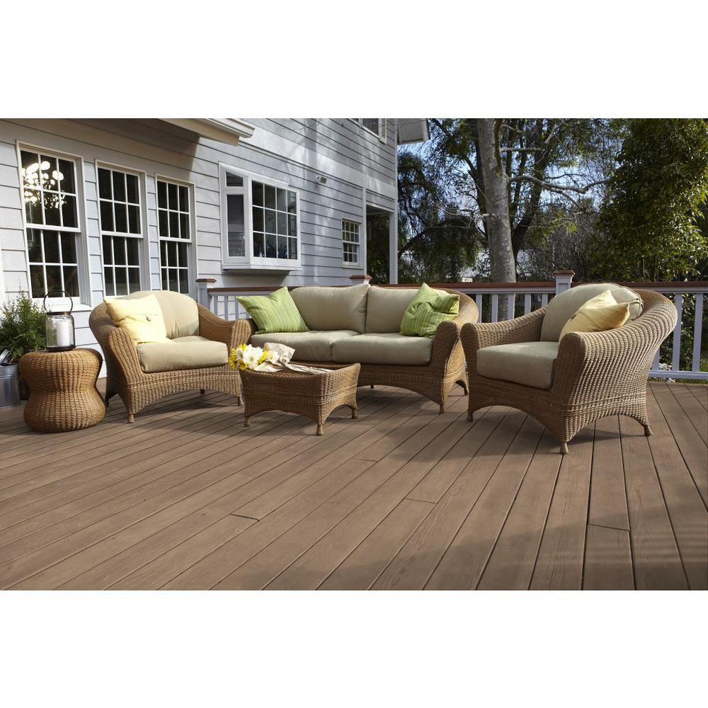 Behr Premium 1 Gal St 121 Sandal Semi Transparent Waterproofing Exterior Wood Stain And Sealer 507701 The H Exterior Wood Stain Staining Wood Exterior Wood