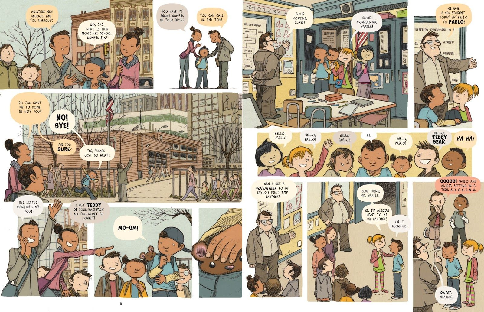 books4yourkids.com: Lost in NYC: A Subway Adventure by Nadja Spiegelman & Sergio García Sánchez, RL: 2