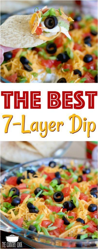 THE BEST 7-LAYER DIP RECIPE | The Country Cook