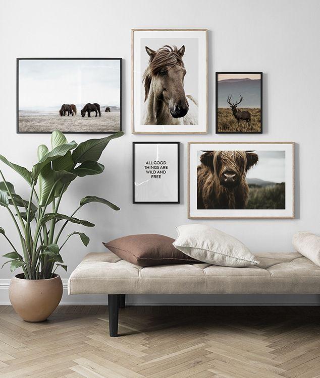 Seite 7 - Inspiration für schöne Wohnzimmer Bilderwand mit Postern | Desenio #deseniobilderwandwohnzimmer