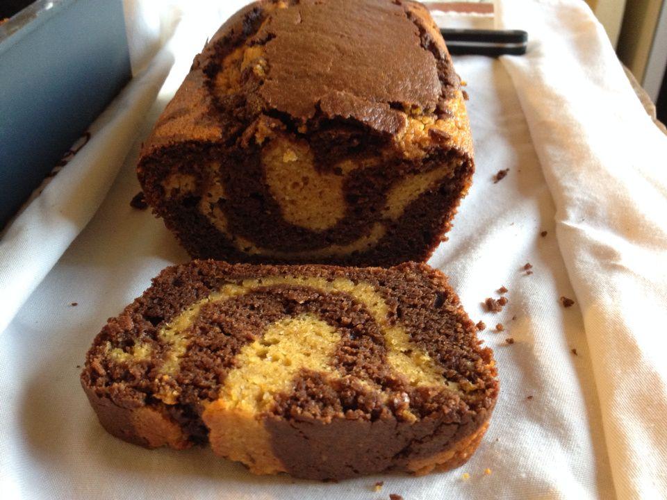 cake marbré sucré courge butternut / chocolat | recette