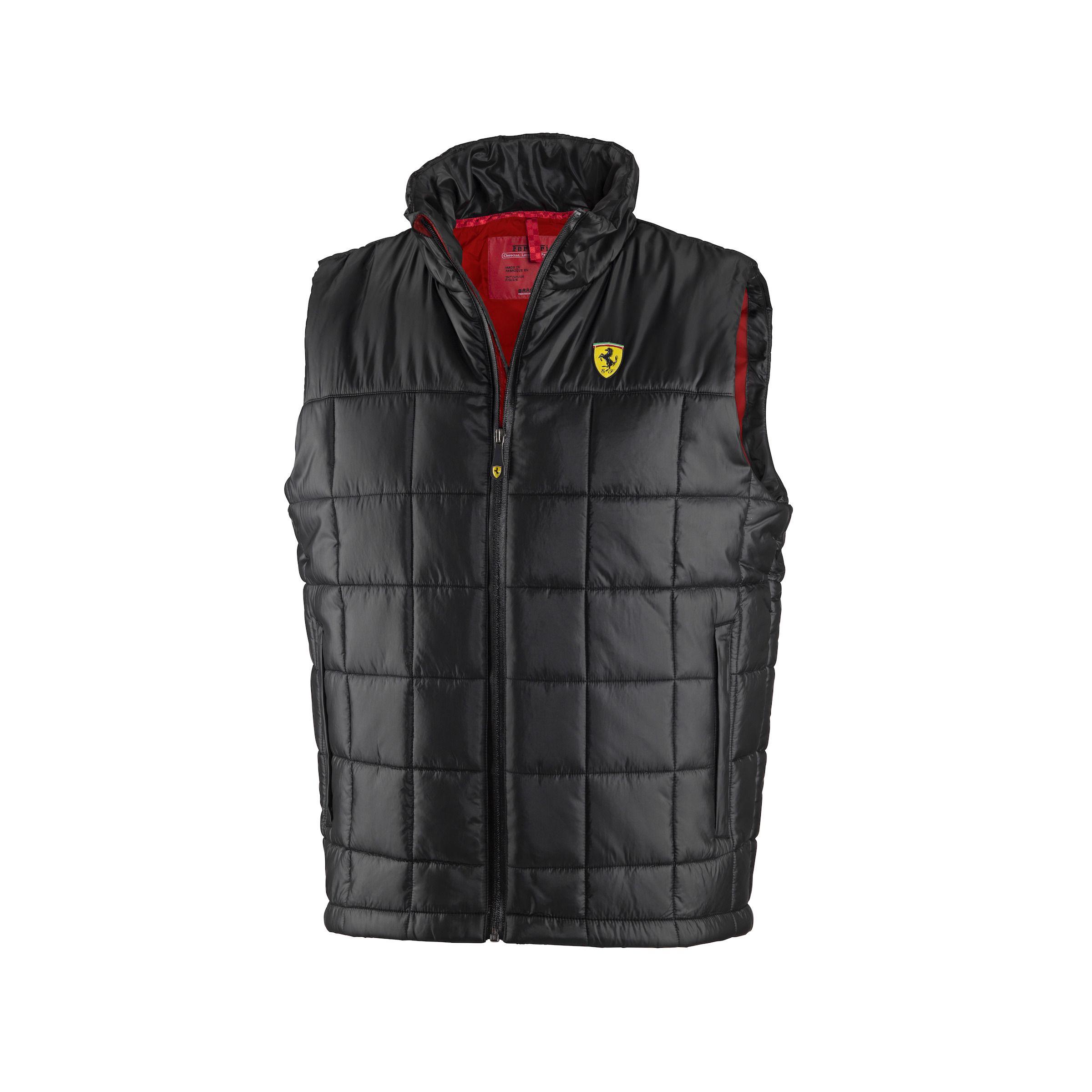Kamizelka Ferrari Quilted Padded Vest - Black CZARNY | FERRARI MEN ... : quilted racing jacket - Adamdwight.com
