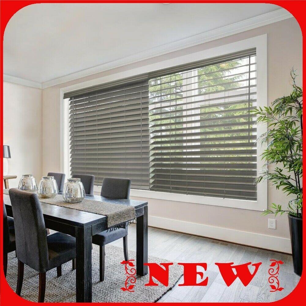 Home Decorators Cordless 2 1 2 Faux Wood Blind Actual Size 24 5 X 48 R24 793478377421 Ebay Faux Wood Blinds Premium Faux Wood Blinds Blinds