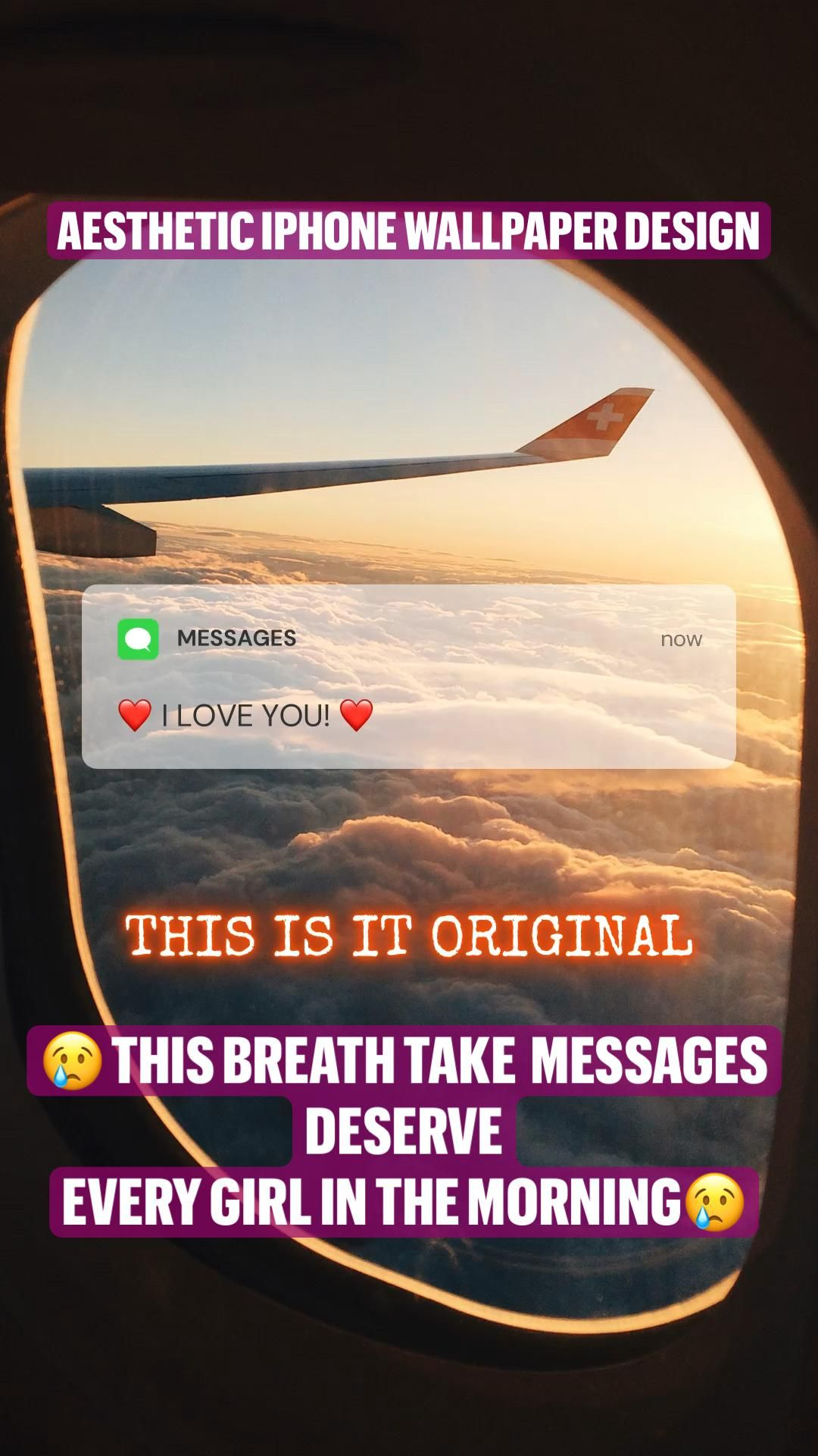 😢 THIS BREATH TAKE  MESSAGES DESERVE  EVERY GIRL IN THE MORNING😢 iPhone aesthetic wallpaper