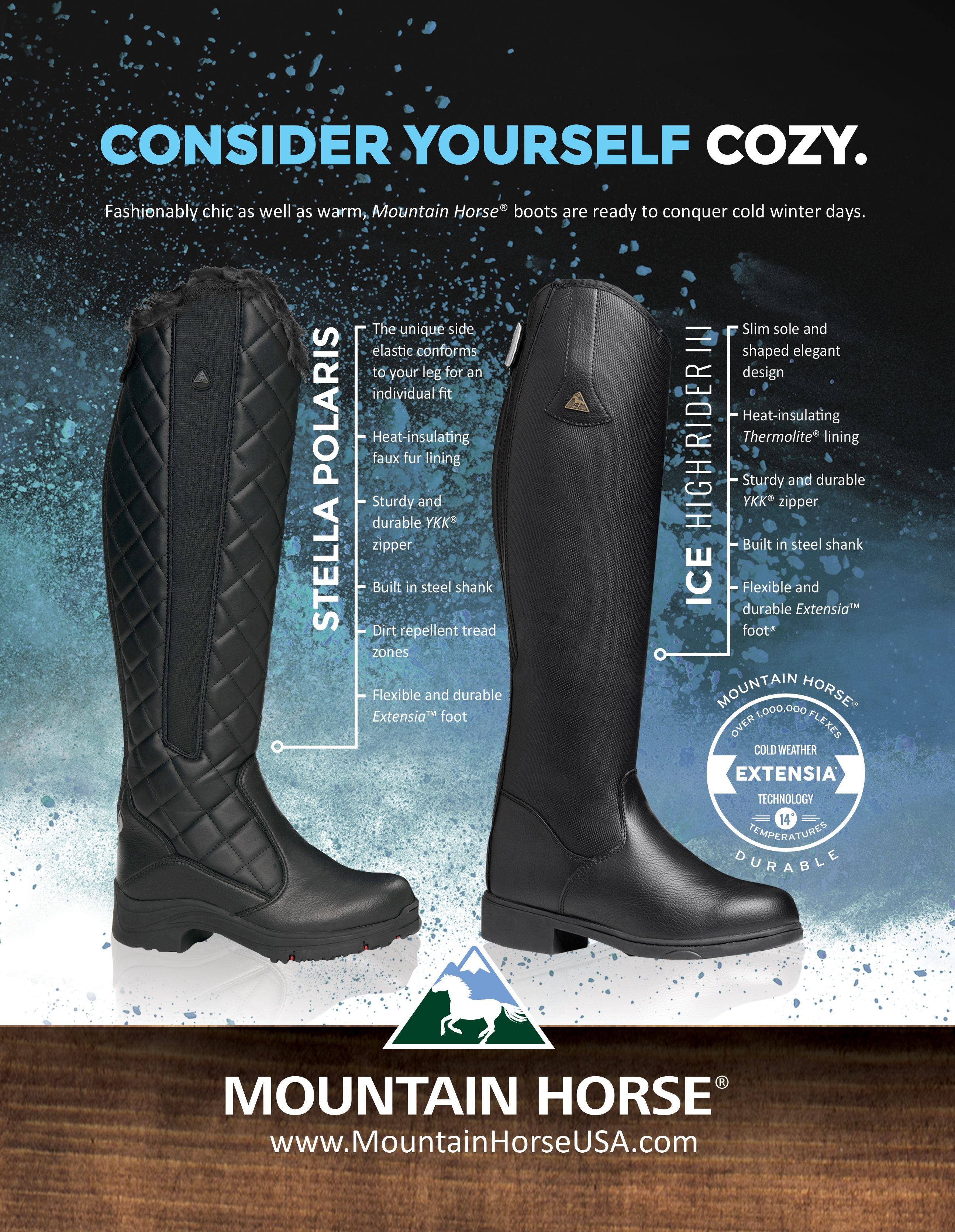 free delivery new authentic shop for newest Mountain Horse® Stella Polaris and Ice High Rider III winter ...