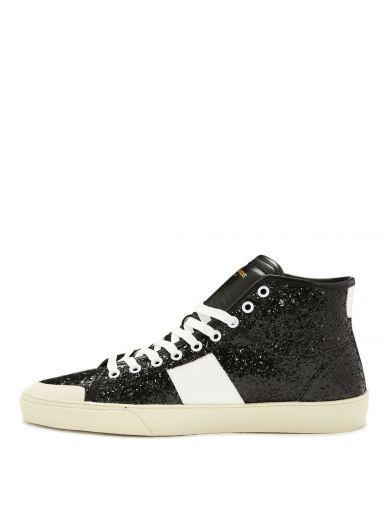 Saint Laurent Glitter Hi-top Sneakers