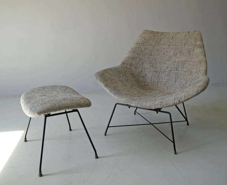 Rare Italian Mid Century Modern Augusto Bozzi Cosmos Lounge Chair