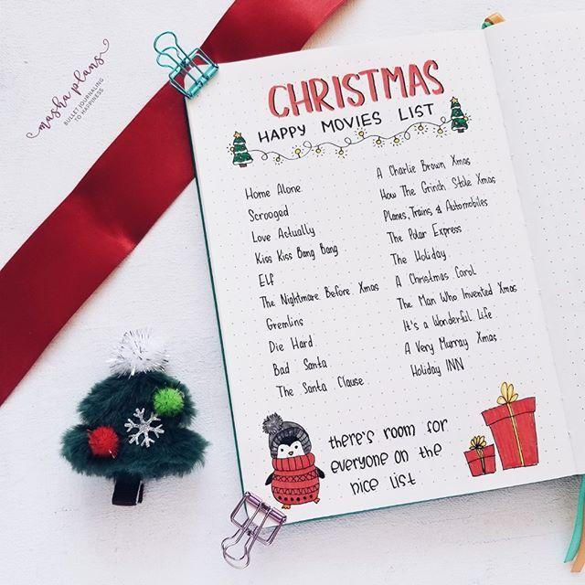 67+ Cutie Little Christmas Bullet Journal Ideas