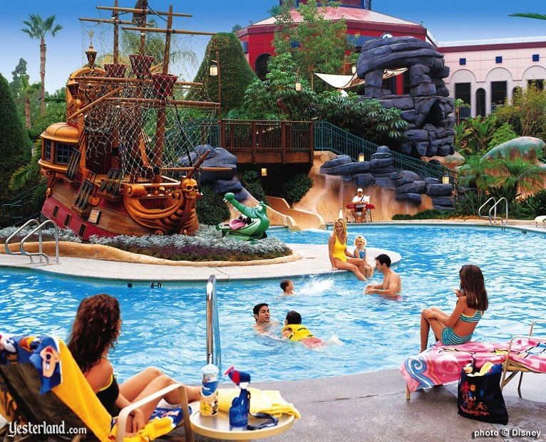 Never Land Pool At Disneyland Hotel Resort