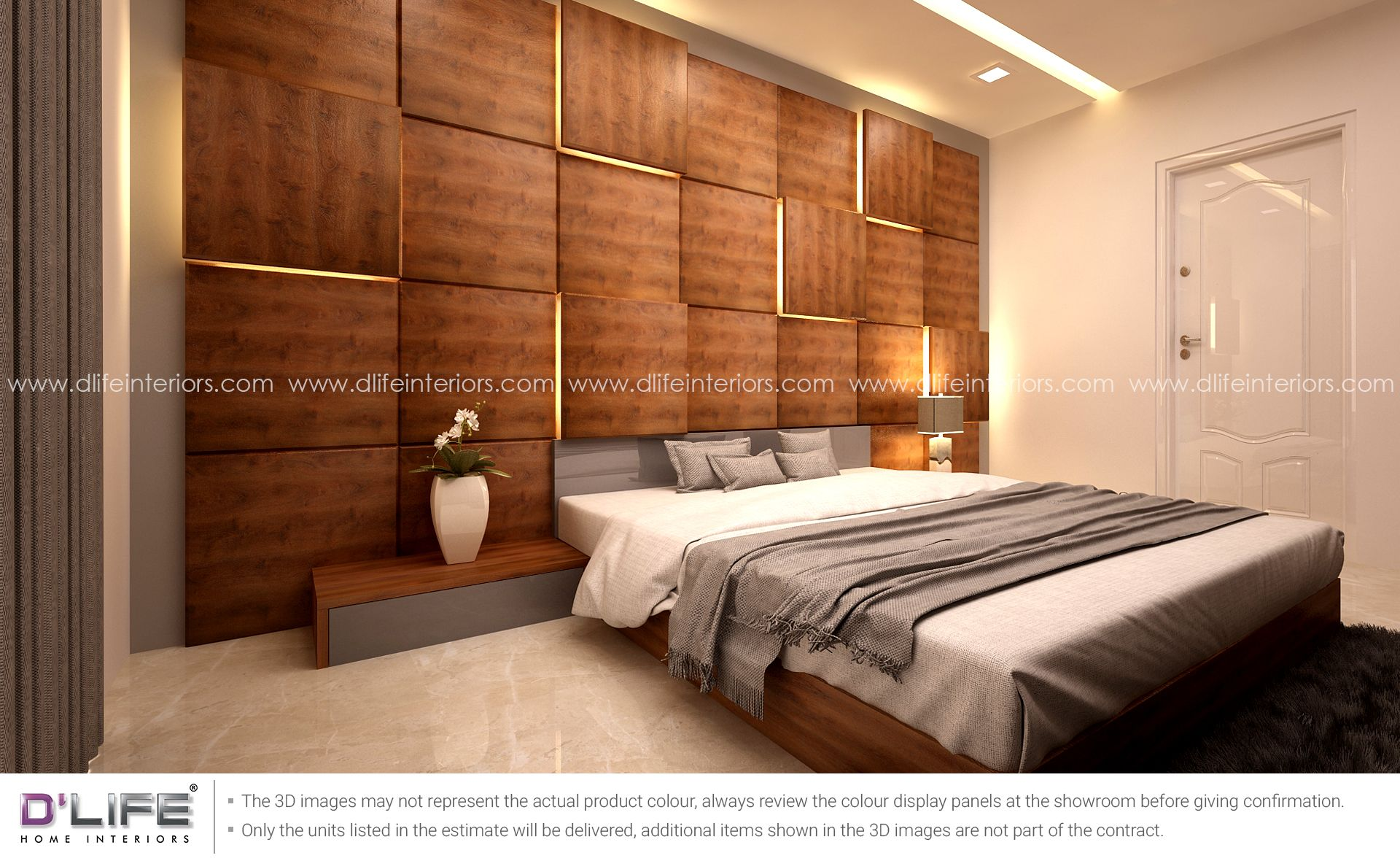 Bedroom With Beautiful Wooden Paneling Bedroom Interior Bedroom Design Master Bedroom Design