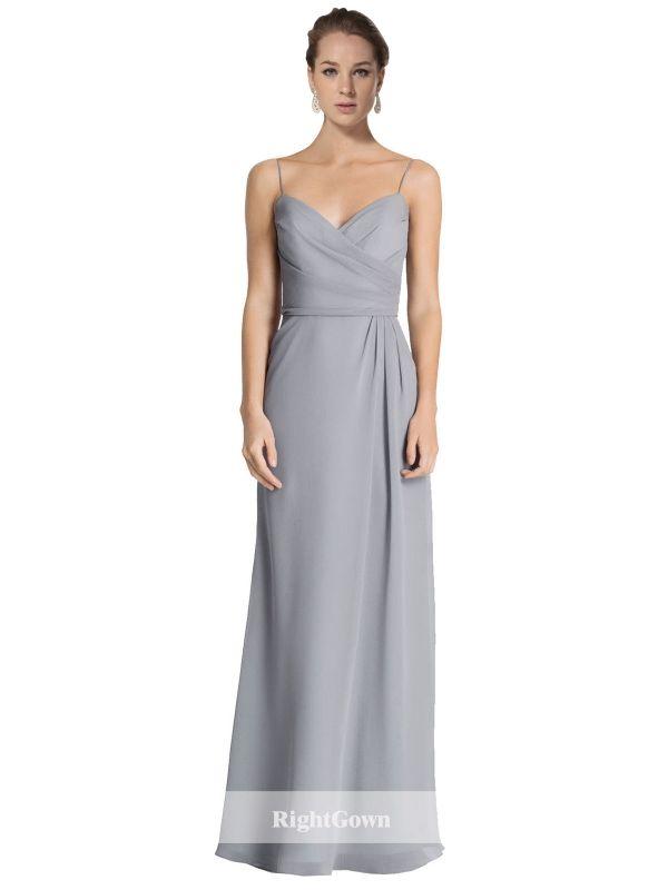 Brides Perth | Shop 2018 Long Chiffon Grey Bridesmaid Dresses Perth ...