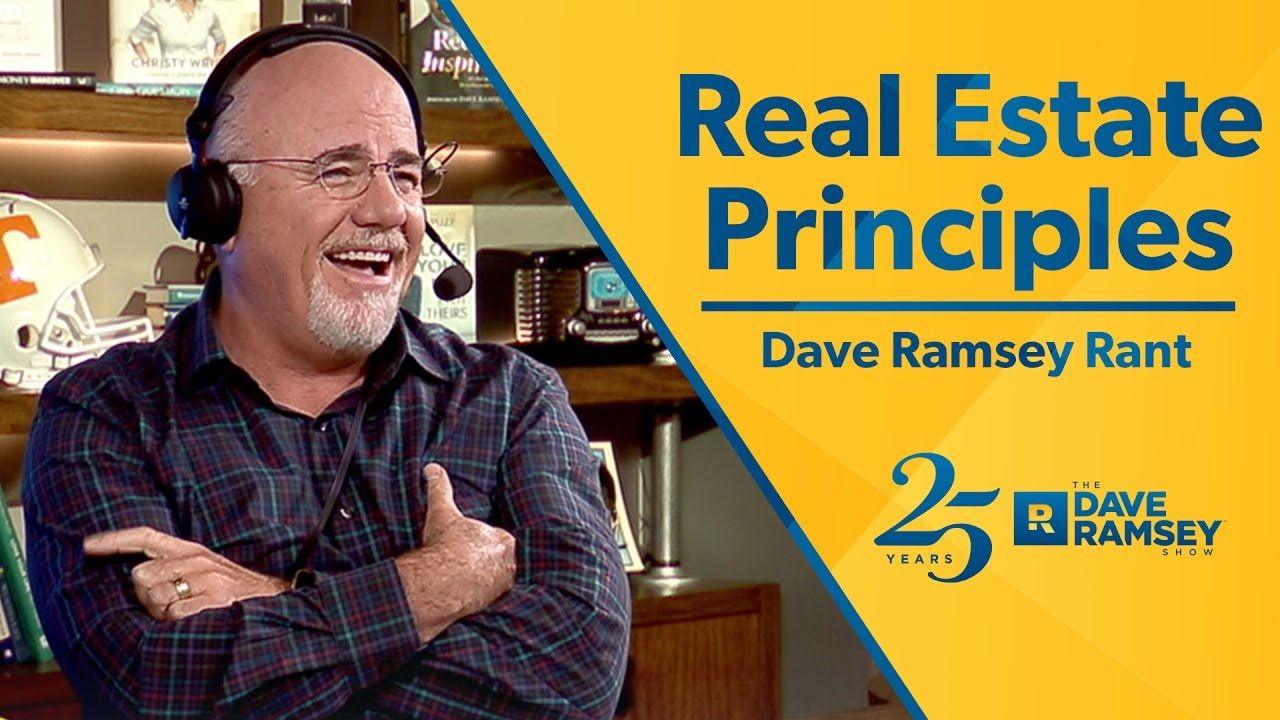 Dave ramseys real estate principles need help selling or