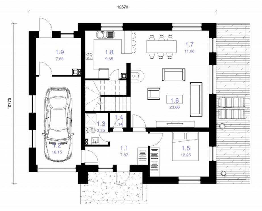 Planos de casa cuadrada de dos pisos casas pinterest for Fachadas de casas modernas de 120 metros cuadrados