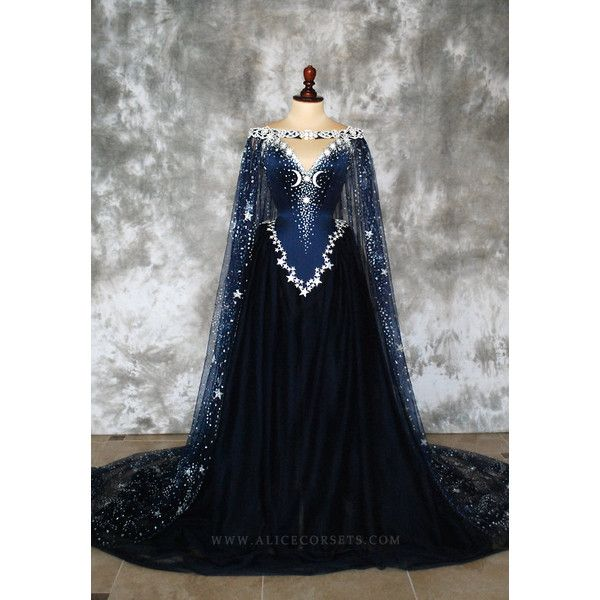 Discount Fantasy Fairy Medieval Gothic Wedding Dresses: Night Godess Elven Corset Dress Gothic Witch Wedding Gown
